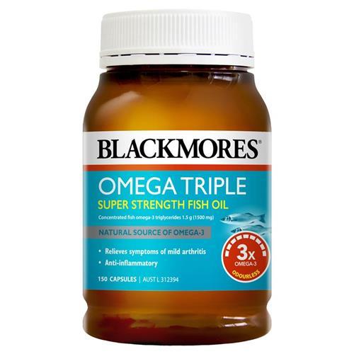 블랙모어스 오메가 트리플 3배함량 피쉬오일 150캡슐, 1개