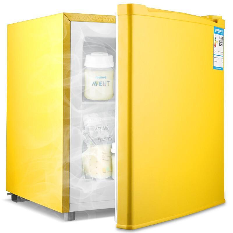 소형김치냉장고 소형 미니 추천 김치냉장고 전국 보증 Demler 50L 우유 저장 모유, 팝 옐로우