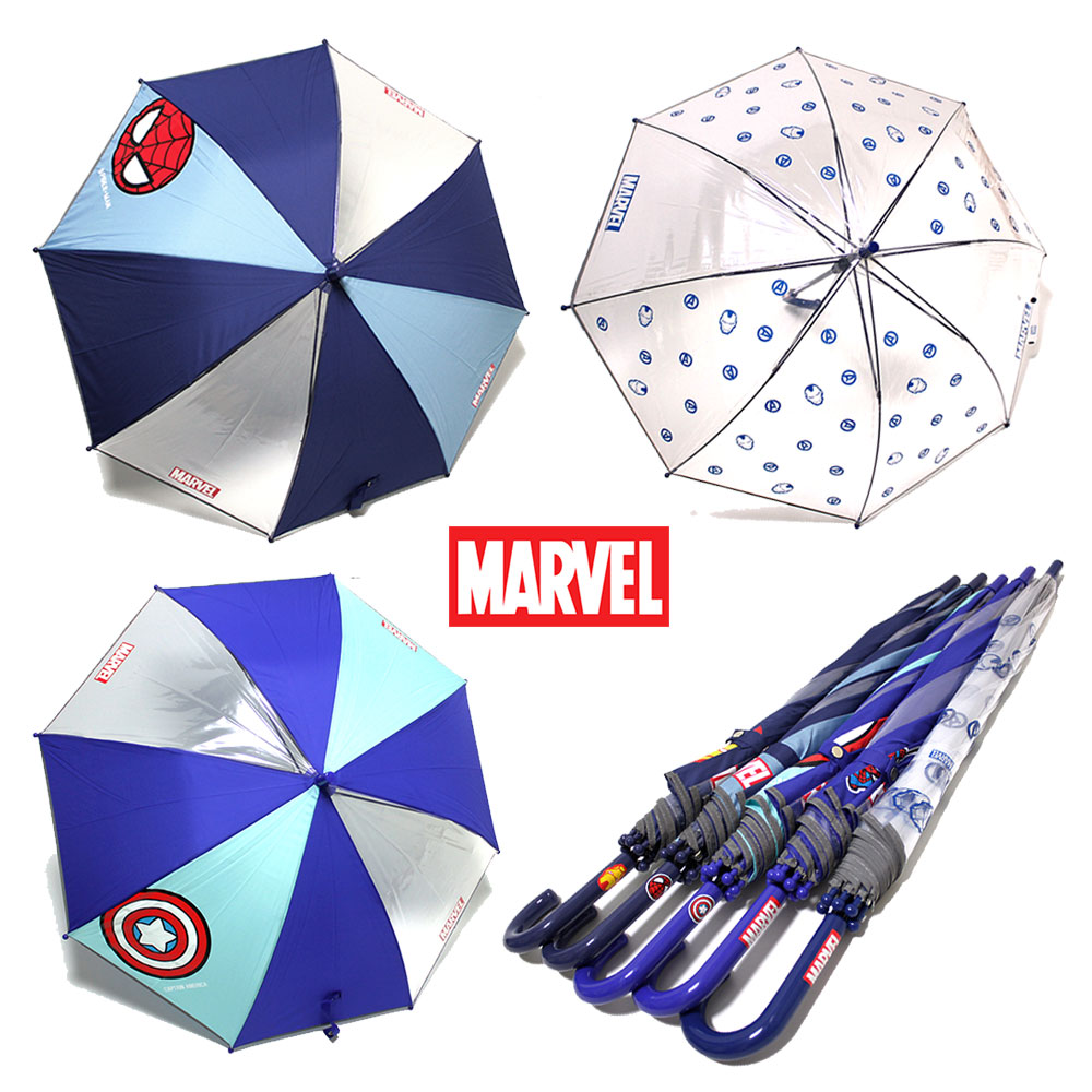 마블 투명 아동우산 모음(스파이더맨 아이언맨 캡틴아메리카)