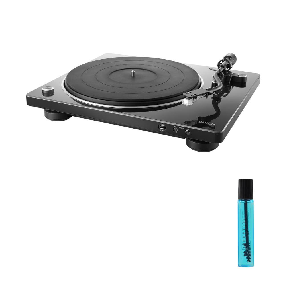 데논 DP-450USB 턴테이블 + 카트리지 클리닝액, 블랙