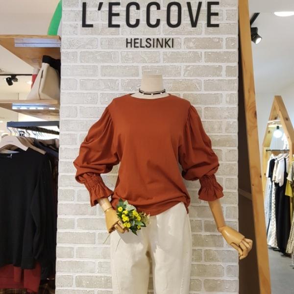 레코브 소매 셔링 티셔츠(LF4109LT037P)