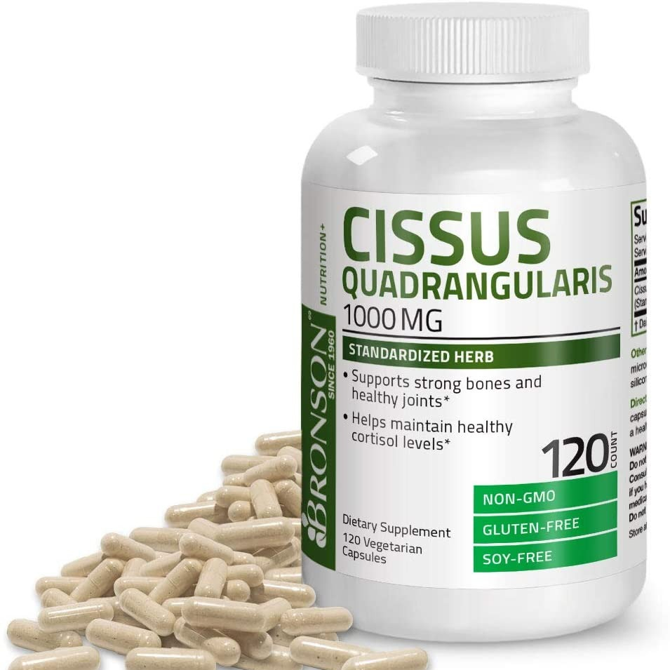 미국 정품 무료배송 브론슨 시서스가루 식물성 다이어트약 지방분해 시서스 분말 1000mg 120캡슐, 1병
