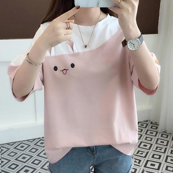 [여성패션] 엘레스 여성티셔츠 당일발송 루즈핏 자체제작 반팔 티셔츠 - 랭킹91위 (9500원)