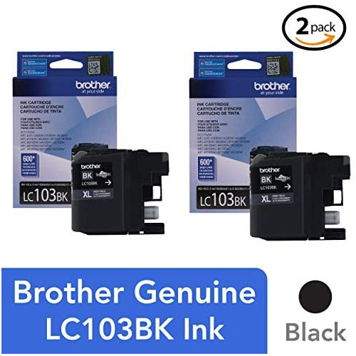 Brother LC-103Y DCP-J132 J152 J171 J4110 J552 J752 MFC-J245 J285 J4310 J4410 J450 J4510 J870 J875 Ink Cartridge Yellow in Retail Packaging, 본문참고, 옵션 1 Color = 2 PACK