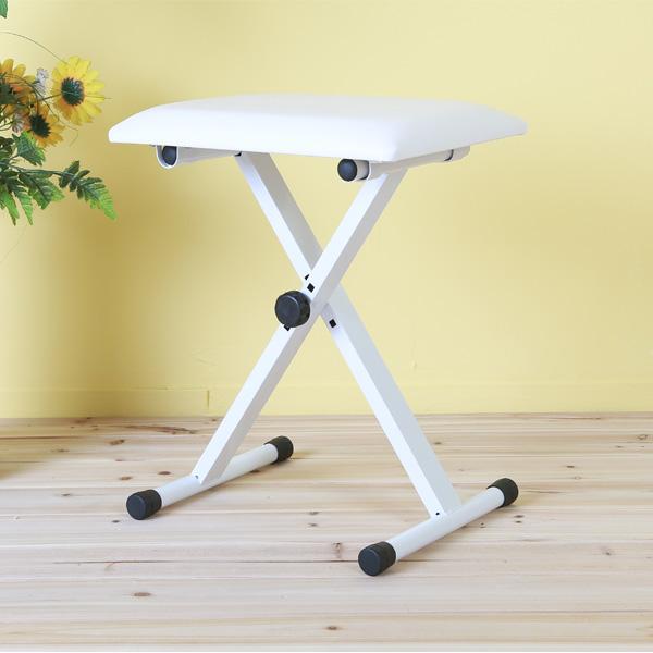 접이식 전자키보드 디지털피아노 신디사이저 의자, 화이트