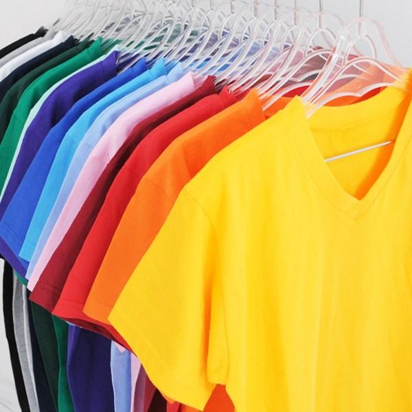 티데일리 남녀공용 30수 브이넥 반팔 티셔츠