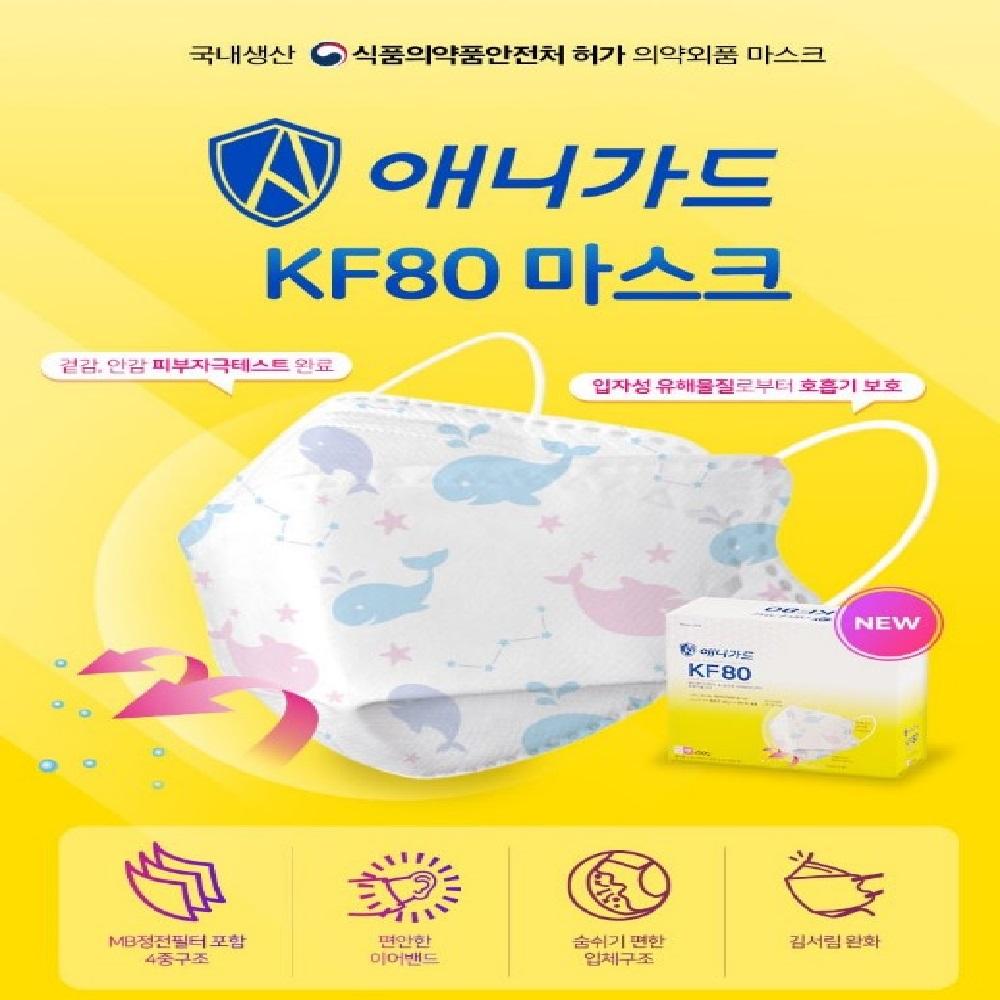 KF80 애니가드 황사마스크 소형 꿈꾸는고래 공룡 50매+애니가드 소형20매, 1.공룡50매+애니가드소형20매