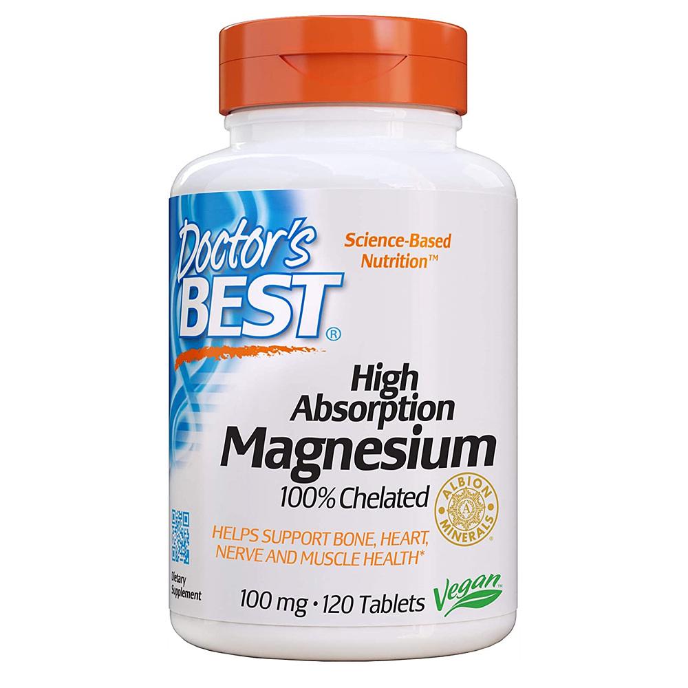 Doctors Best High Absorption Magnesium 닥터스베스트 고흡수 킬레이트 마그네슘 120정
