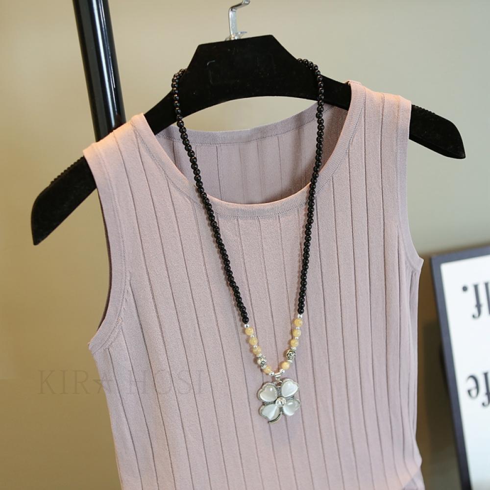 kirahosi 여성 a 여름 티 셔츠 니트 나시 브이넥 +스마트스트랩 증정 YZ 565856173219 민소매/나시