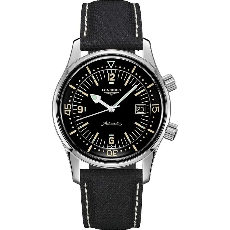 [론진 남성시계] Longines orologio Heritage Legend Diver automatico cinturino pelle L3.774.4.50.0