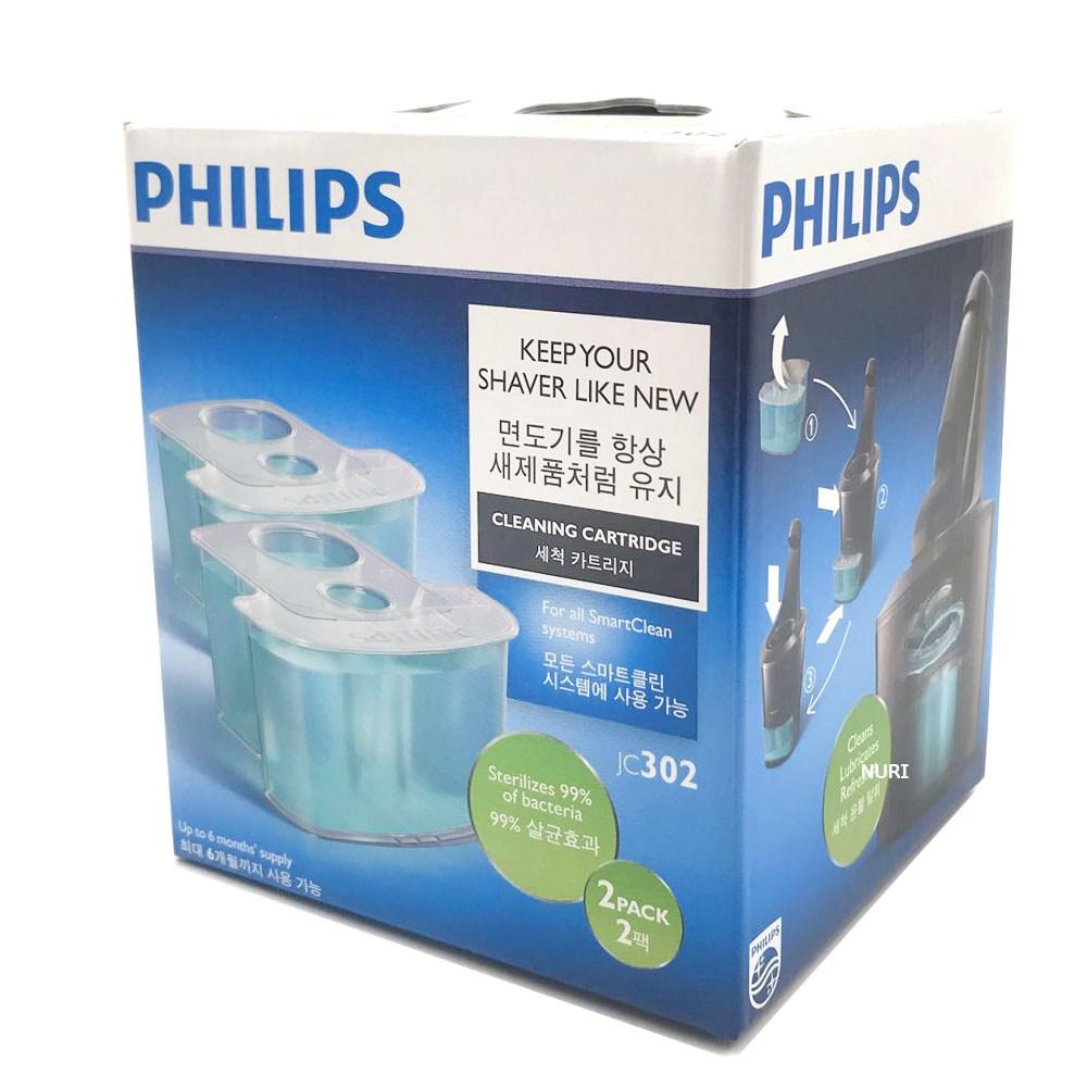 필립스 면도기 세척액 카트리지 JC302 스마트클린 전용 세척, 세척액 2개입