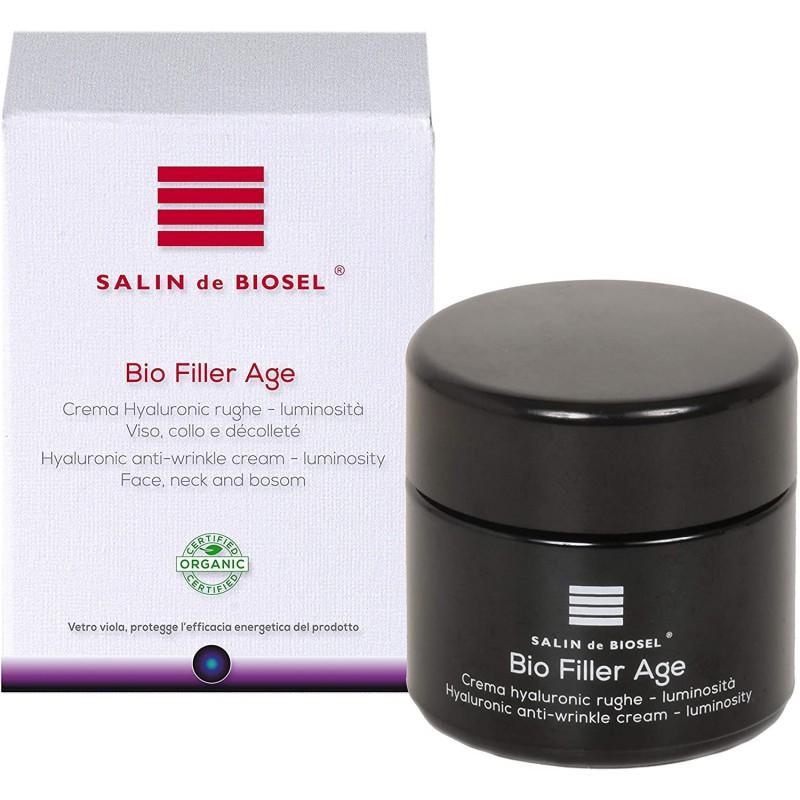 BIO FILLER AGE 유기농 인증 크림 안티 에이징 안티 주름 얼굴 목 입술과 눈 영역 Hyalurons의 산 하이퍼 농축 100% 천연 폴리, 1