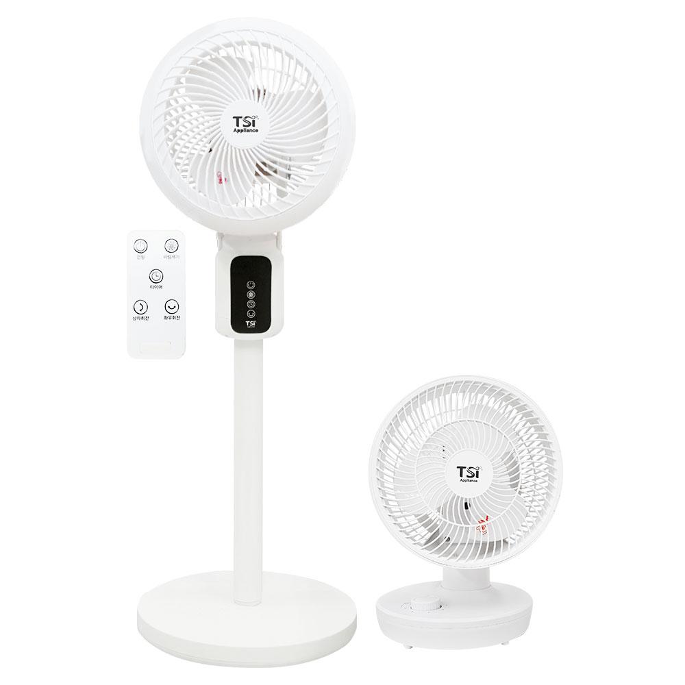 TSI 서큘레이터 선풍기 저소음 탁상형 스탠드형 파워 공기순환 3d 입체 회전 에어, 1.탁상형-10-5525470110