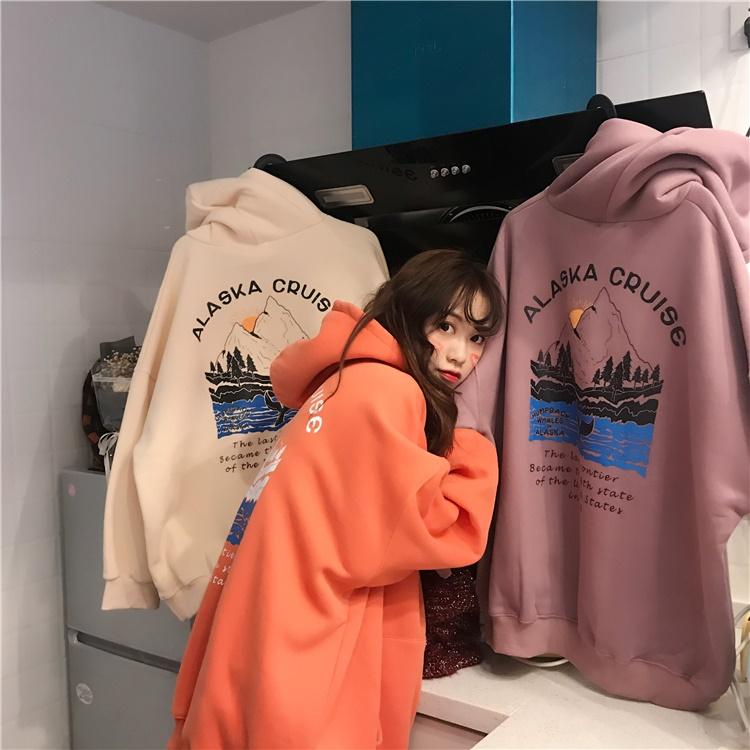 가심비 여성 알래스타 루즈핏 후드티 후드 티셔츠
