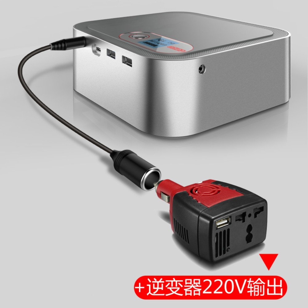 TECP 200 000mAh 대용량 캠핑용 파워뱅크보조베터리 노트북 보조배터리 PD충전 차량용 인버터 캠핑용배터리, Silver 200000mAh (인버터 패키지)