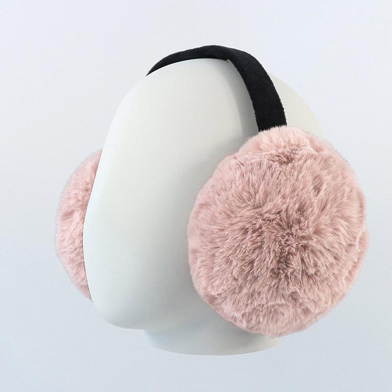 제이제이나인 여성 남성 공용 휴대용 접이식 토끼털 귀마개