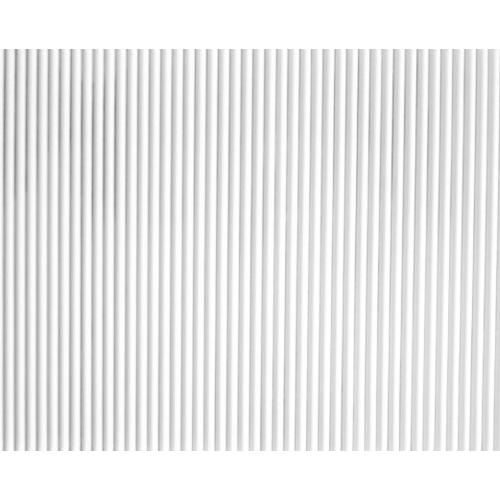 예림 백색 래핑반달 템바보드 9x1200X2400mm (백색시트지 랩핑) 벽면 곡면MDF 목재