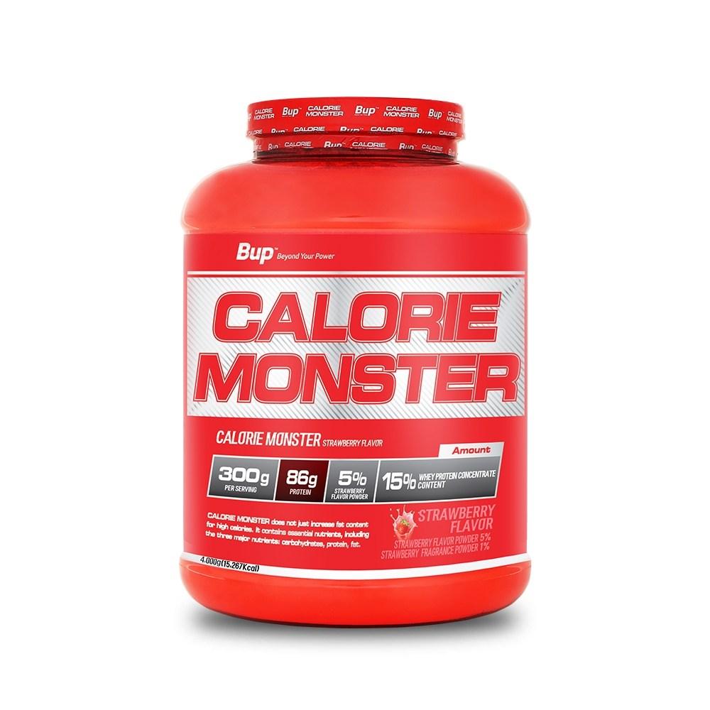뉴트리션스토어 BUP 칼로리몬스터 딸기맛 체중증가 게이너, 1통, 4kg