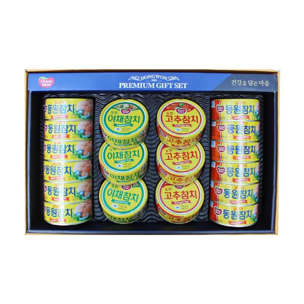 동원 참치선물세트 선호 18P 4세트 BOX 식품  가공즉석식품 캔통조림류 참치연어 통조림 참치통조림세트 1