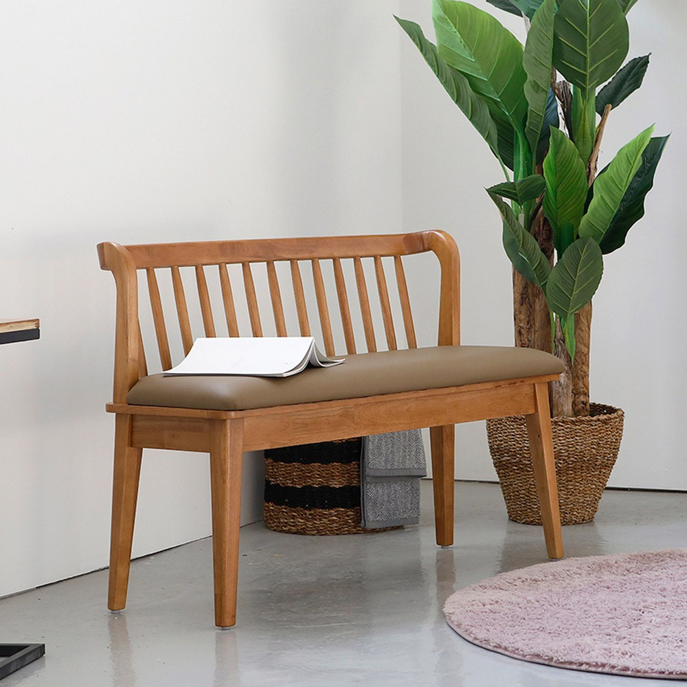 (주)라미에스 원목 카페 인테리어 등받이 벤치의자 2인용 3인용 실내벤치