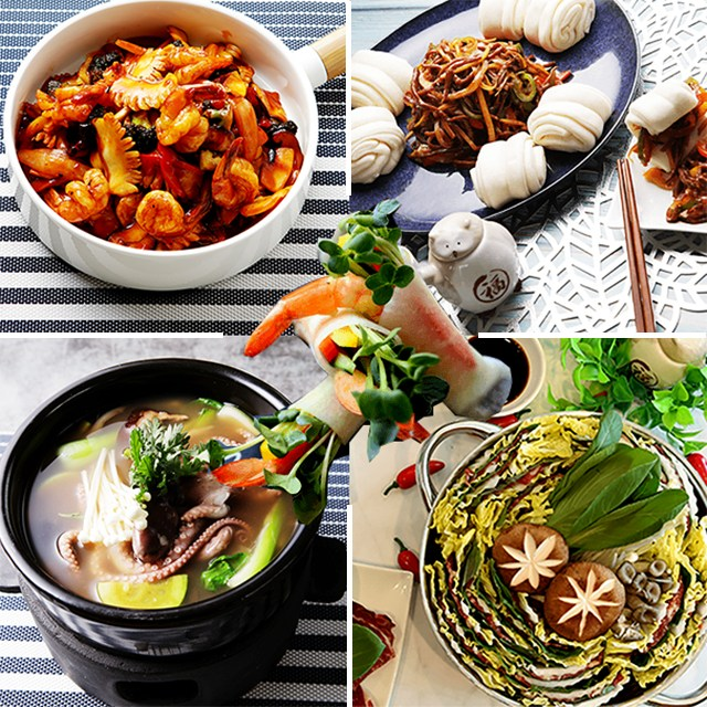 팜앤쿡 홈파티음식 집들이음식(5종) (밀키트 쿠킹박스 반조리), 8인분, 4982g