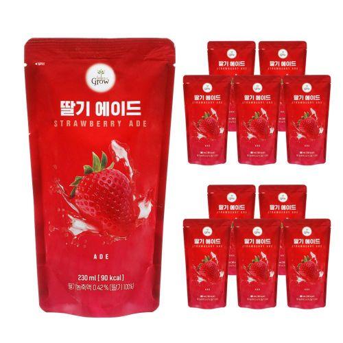발란스그로우 딸기 에이드 230ml X 10팩, 단품