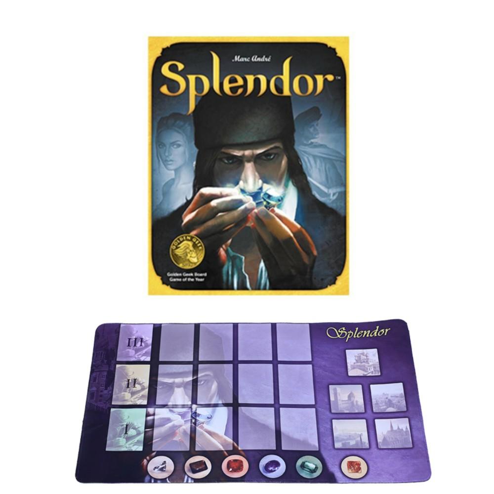 홈 파티 성인 파이낸싱 패밀리 게임을 위한 스플렌더 보드 게임 영어 버전, 화려 함 [보석 파운데이션 + 카드 패드]