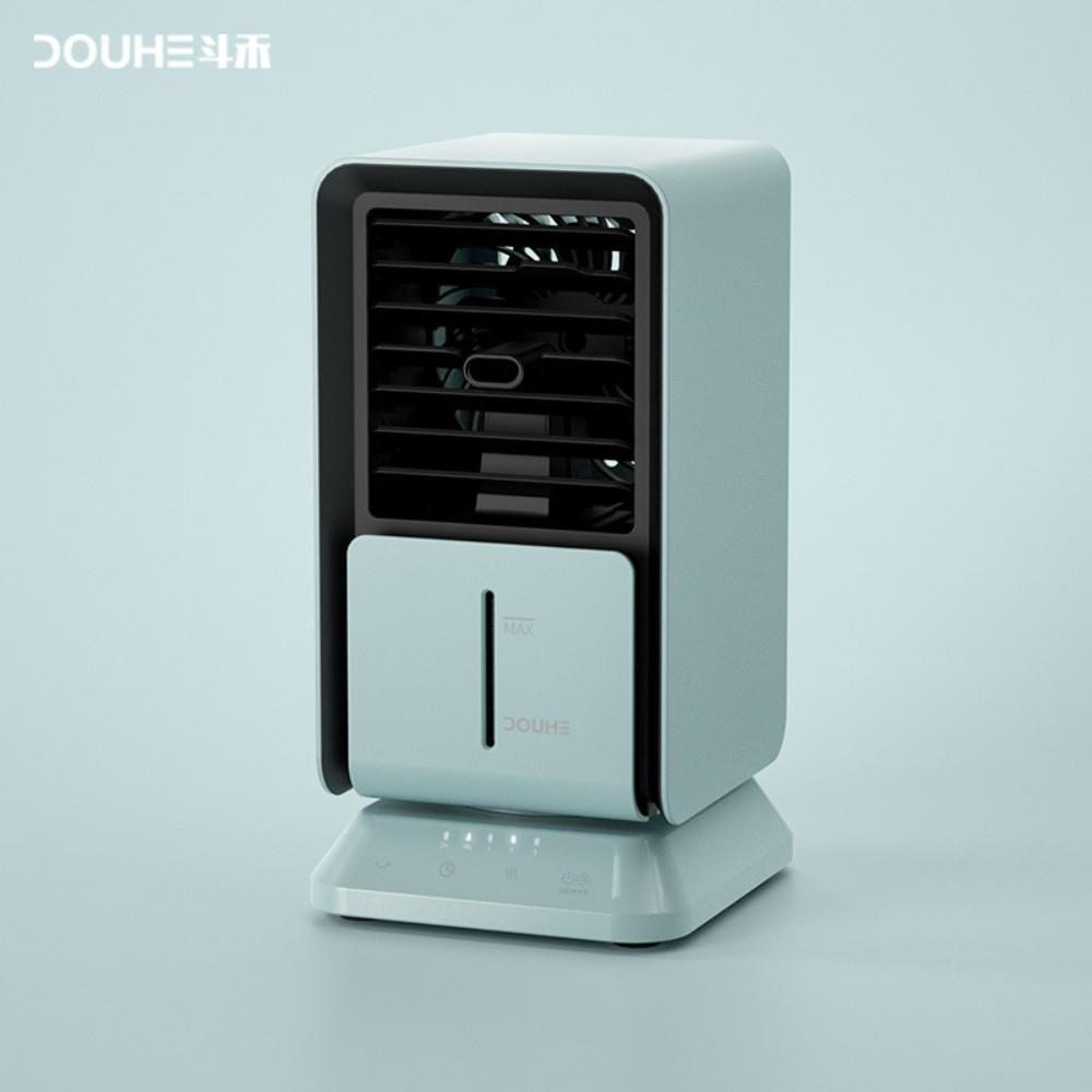 샤오미 냉풍기 가정용 사무실 휴대용 탁사용 저소음 미니 소형 에어컨 에어쿨러, 푸르다 (POP 5697376800)