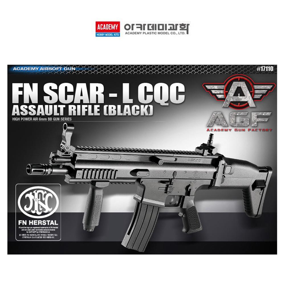 살구슈퍼 아카데미 FN SCAR-L CQC BB탄총 에어건 블랙 가스건