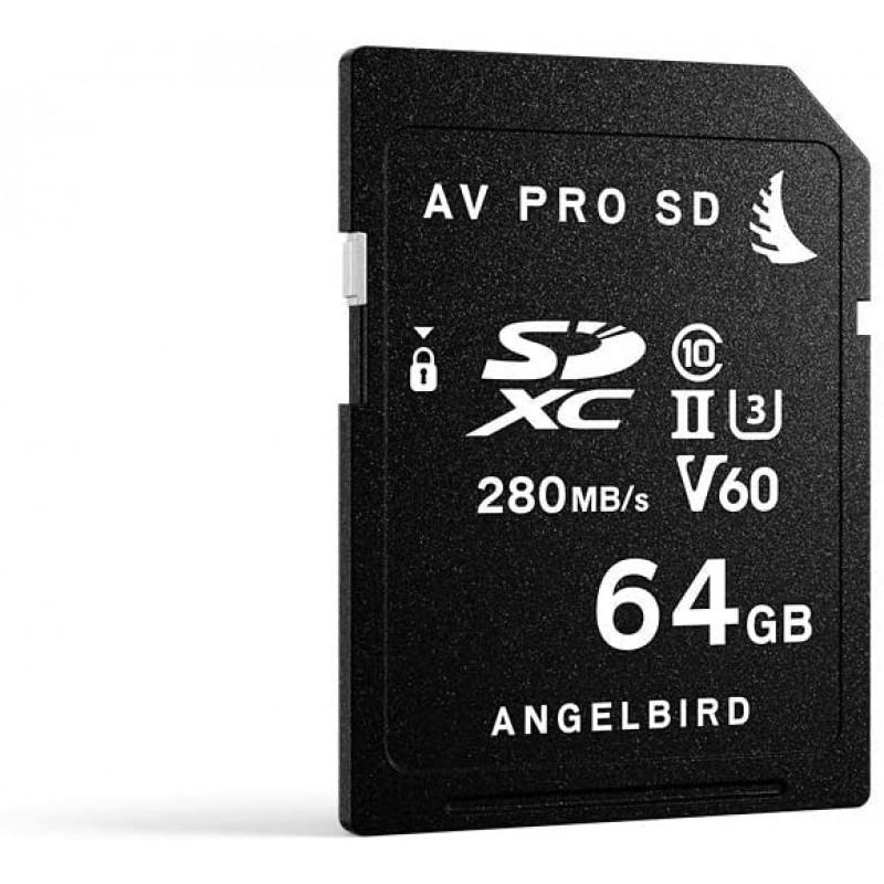 Angelbird SD 카드 AV Pro UHS-II 64GB V60 AVP064SDMK2V60, 단일상품