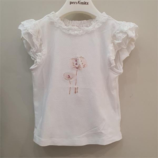 페리미츠 DP02 러블리레이스장식티셔츠 P2021T151