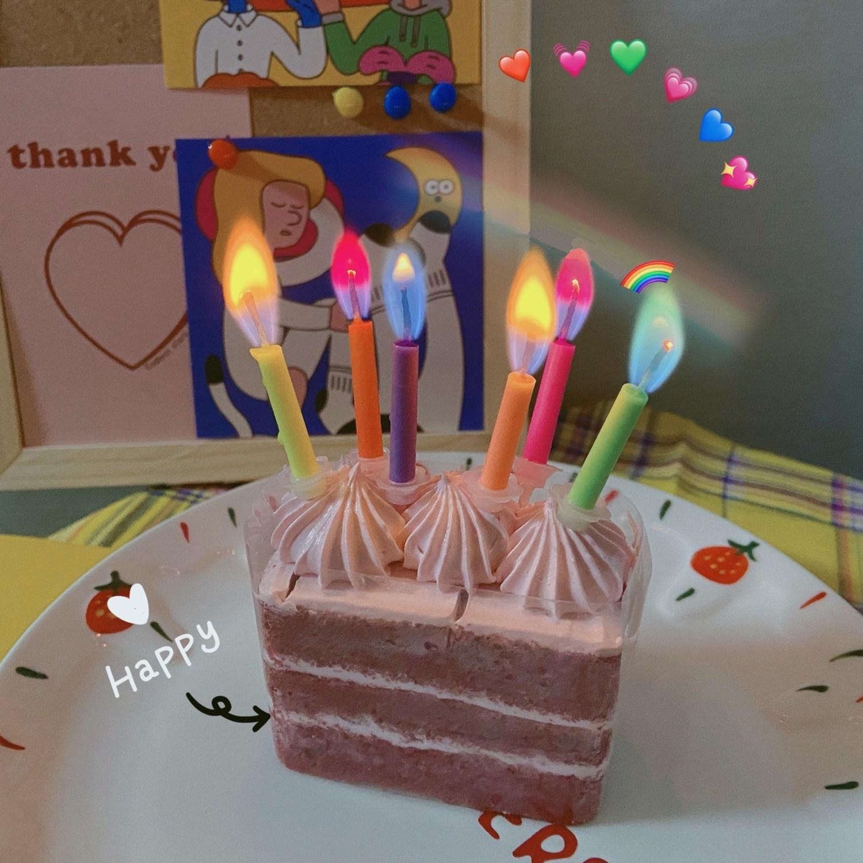 이큐컴퍼니 색깔초 레인보우불꽃초(12pcs) 축하파티초 생일초