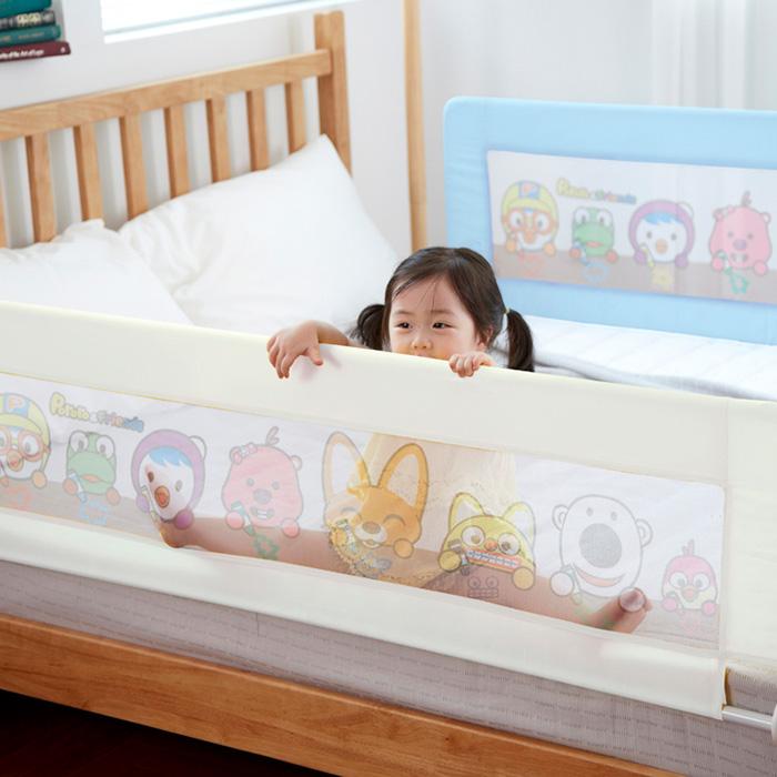뽀로로 침대안전가드 아기 유아 침대가드 150cm 매립형 평상형 호환, 아이보리