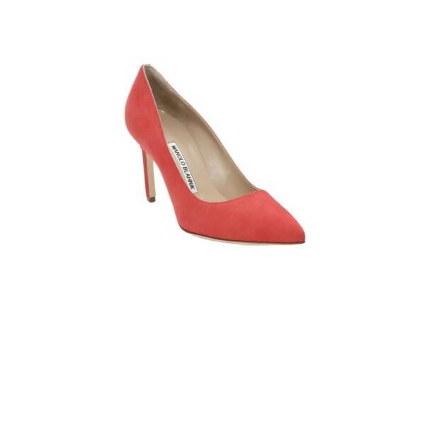 Manolo Blahnik Orange BB Shoes 36.5 NIB $695