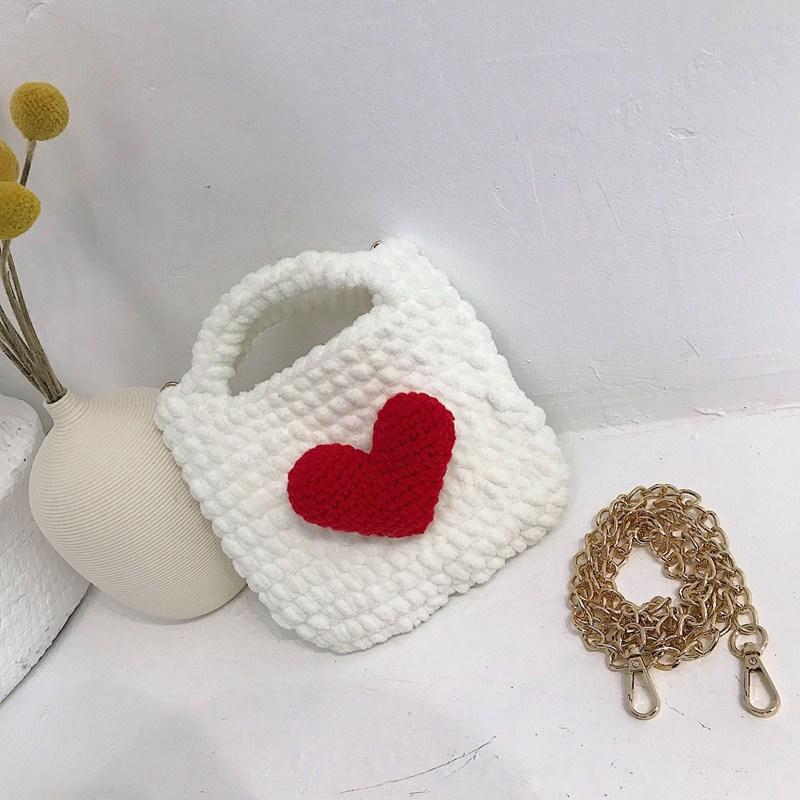 코바늘핸드폰가방 망태기가방 여름가방뜨기 DIY세트 탄탄한 귀여운 손뜨개가방