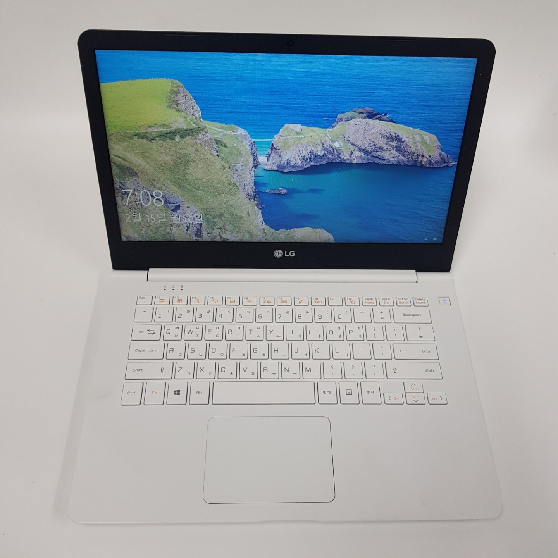 LG 화이트 초경량 14인치 가벼운 울트라북, 4GB, SSD 128GB, Win10