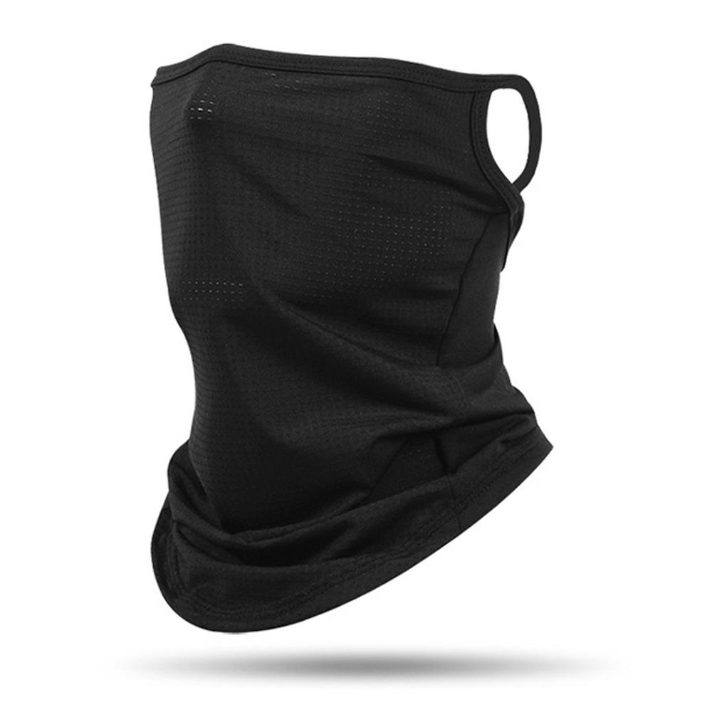 위즈맥스 자외선차단 마스크 Q매쉬 이어형, 블랙