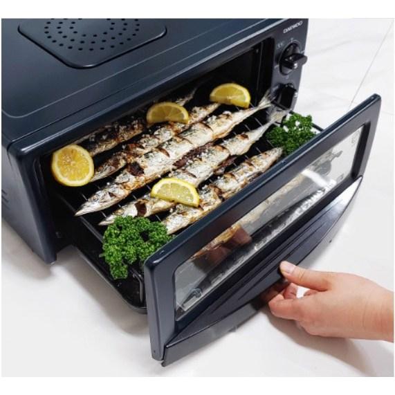 가정용 전기 생선 구이기 양면 생선 구이 기계 연기 안나는 고기 굽는 그릴 멀티 오븐 팬 냄새 안나는 직화 석쇠 그릴