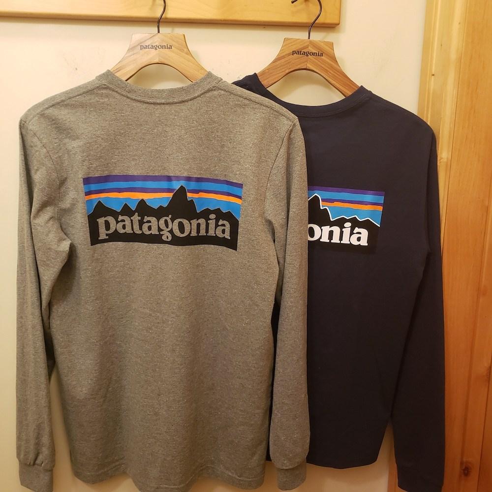 파타고니아 긴팔 P-6 남녀공용 로고 티셔츠
