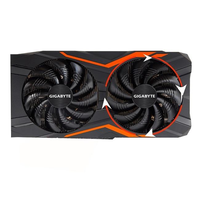 88MM T129215SU PLD09210S12HH Gigabyte GeForce GTX 1050 Ti RX 480 470 GTX 1060 G1 그래픽 카드 쿨러 팬, 01 Clockwise Fan