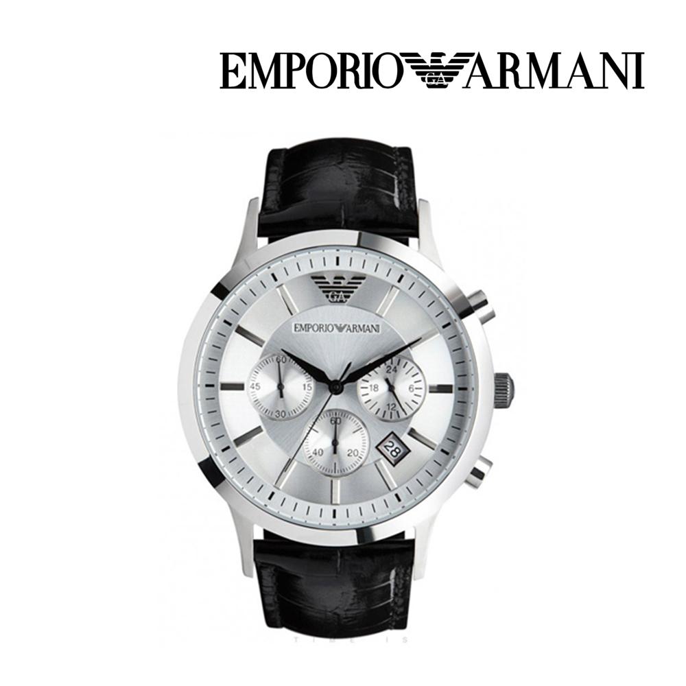 엠포리오 아르마니 남자 가죽 손목시계 AR2432