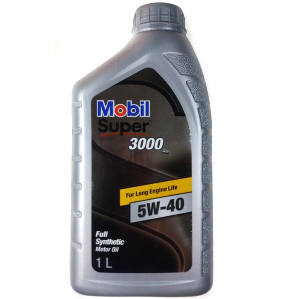 모빌원 슈퍼3000 X2 5W40 946ml 엔진오일 가솔린 디젤 겸용, 1개