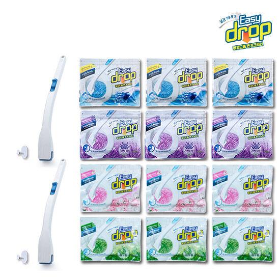 이지드롭 변기크리너 / 핸들 2개+리필(향4종) 156개, 단품