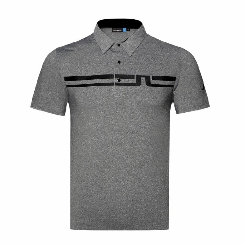 J LINDEBERG 제이린드버그 남성용 반팔 티셔츠 여름용 골프, 회색