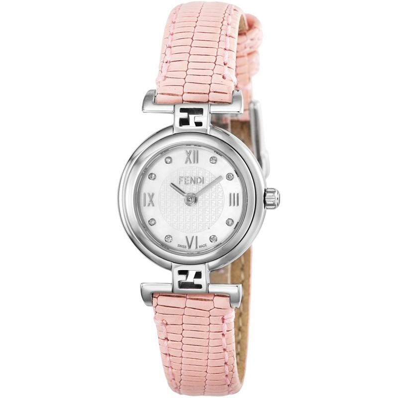 [펜디] 시계 MODA 화이트 펄 문자판 다이아몬드 F271247D-NEW 병행 수입품 핑크