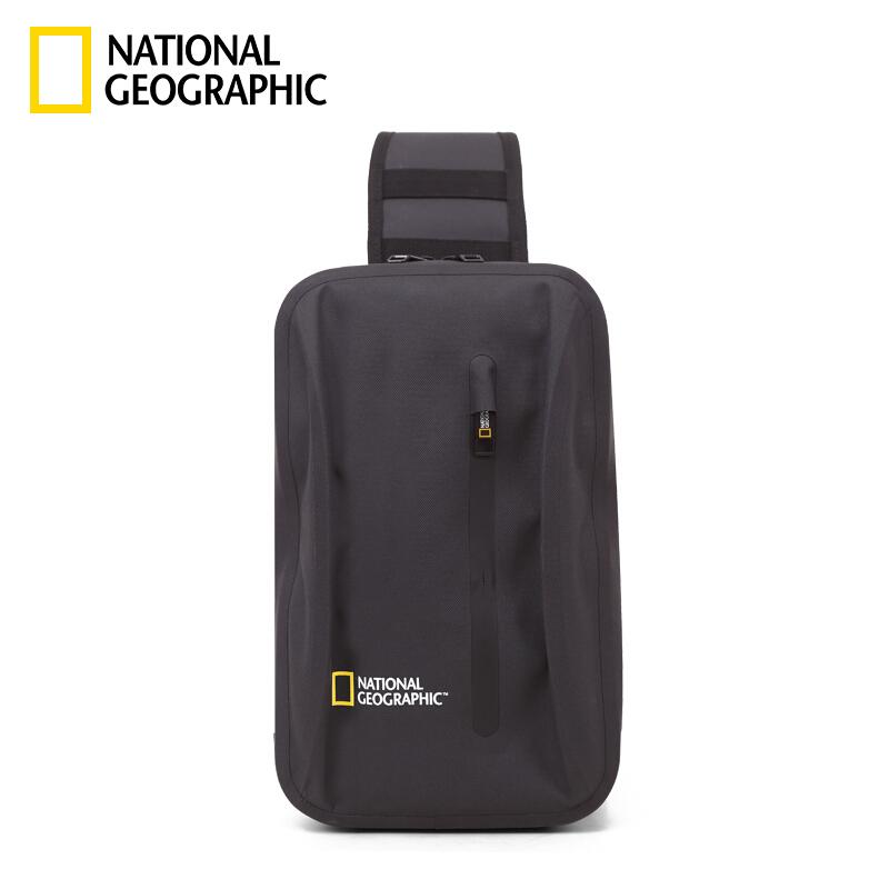 국가 지 리 는 National Geographic 가슴 가방 남자 가방 숄 더 크로스 백 남자 학생 캐 주 얼 가슴 라인 블랙 백 팩