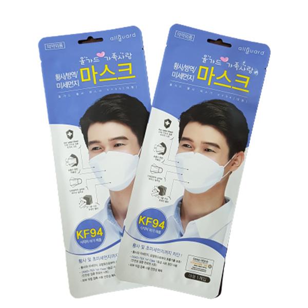 올가드 곤이몰 kf94 마스크 화이트 성인용 대형, 1매, 1개