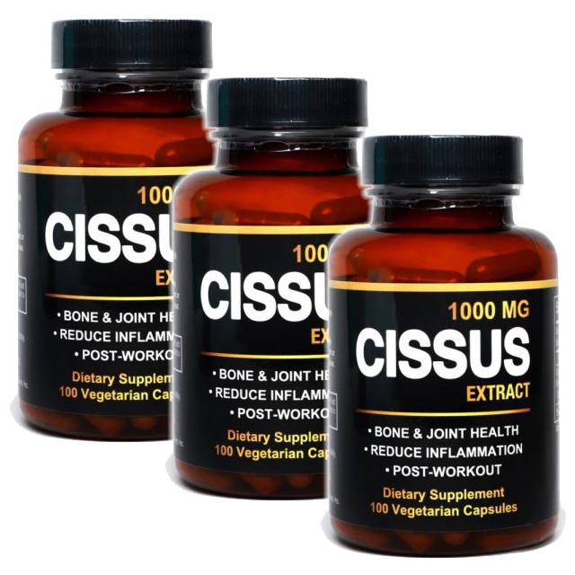 미국 직구 시서스 가루 캡슐 1 000mg 씨서스 알약 분말, 3병, 100캡슐-6-4610329272