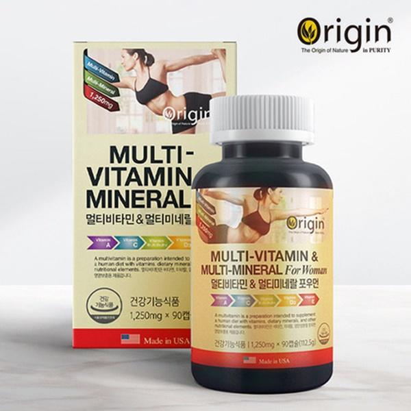 식약처인증 여성용 종합비타민 멀티비타민 미네랄 영양제 비타민B 1 2 6 12 컴플렉스 엽산 비오틴 여자 포우먼 30대 40대 50대 60대 + 실버 중년 부모님 미국 직수입, 0g, 1개-25-4385863689