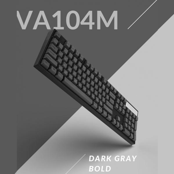 염료승화 [다크그레이/USB] [VARMILO] 적축 PBT 기계식 VA104M 다크 그레이 키보드 한영자판 BOLD 저소음 유선 리니어, 단일색상, 단일옵션